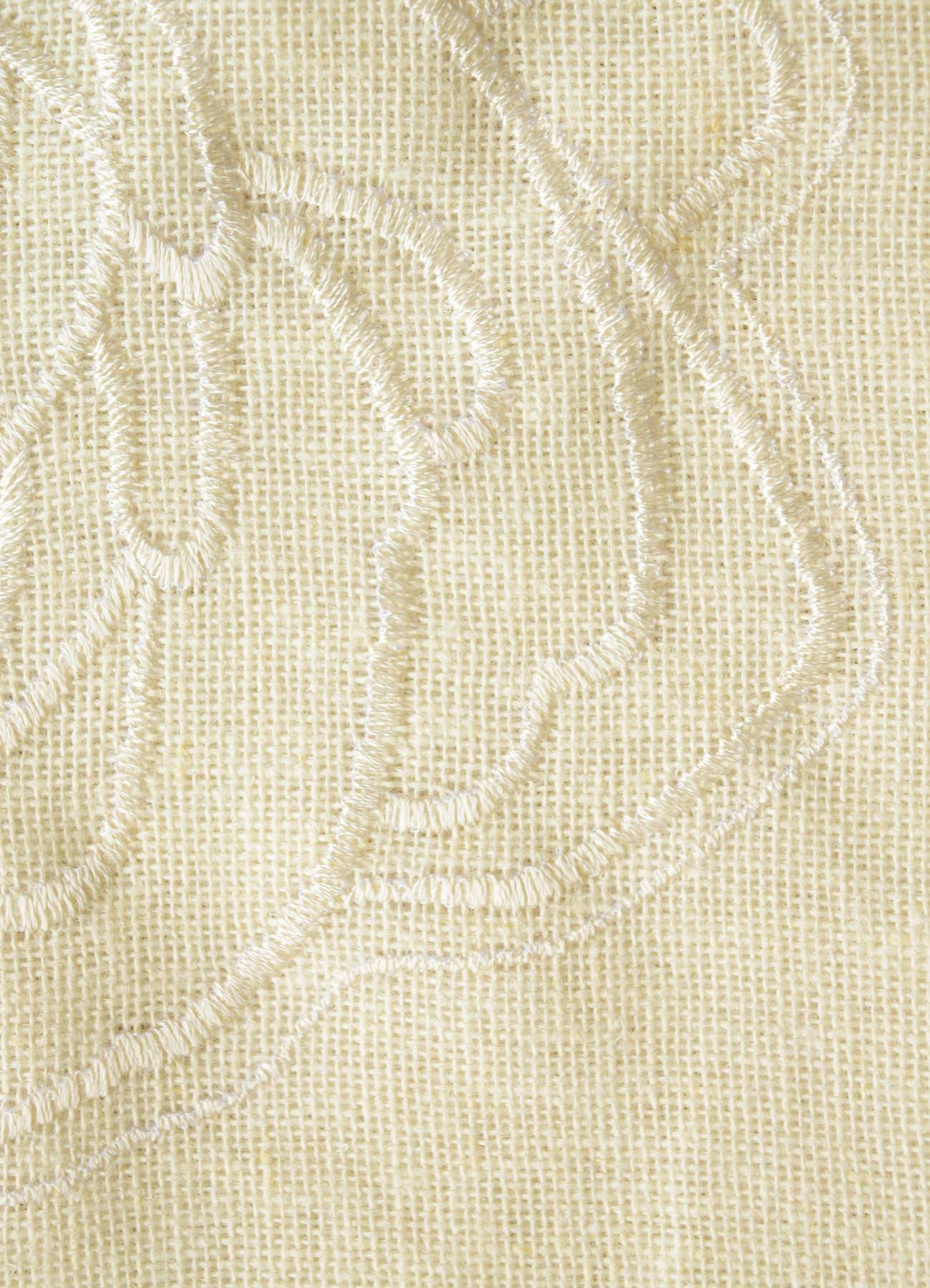 刺繍薔薇カーテン③