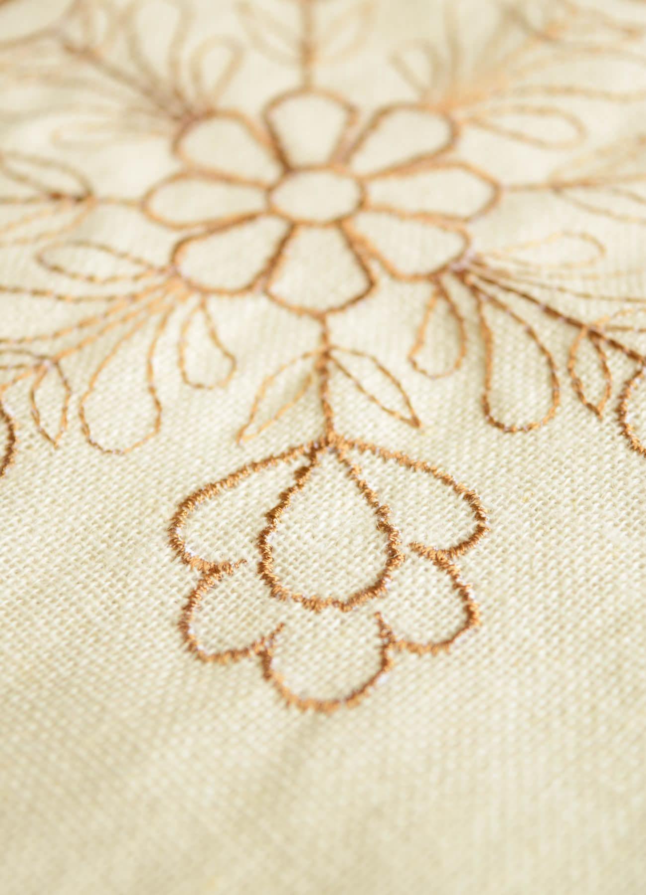 繍カーテン ウエディングブーケ⑧