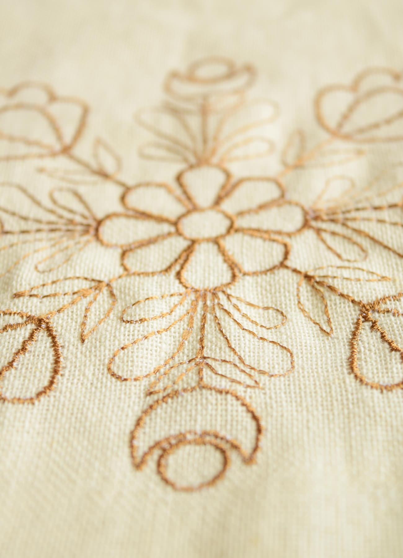 繍カーテン ウエディングブーケ⑩