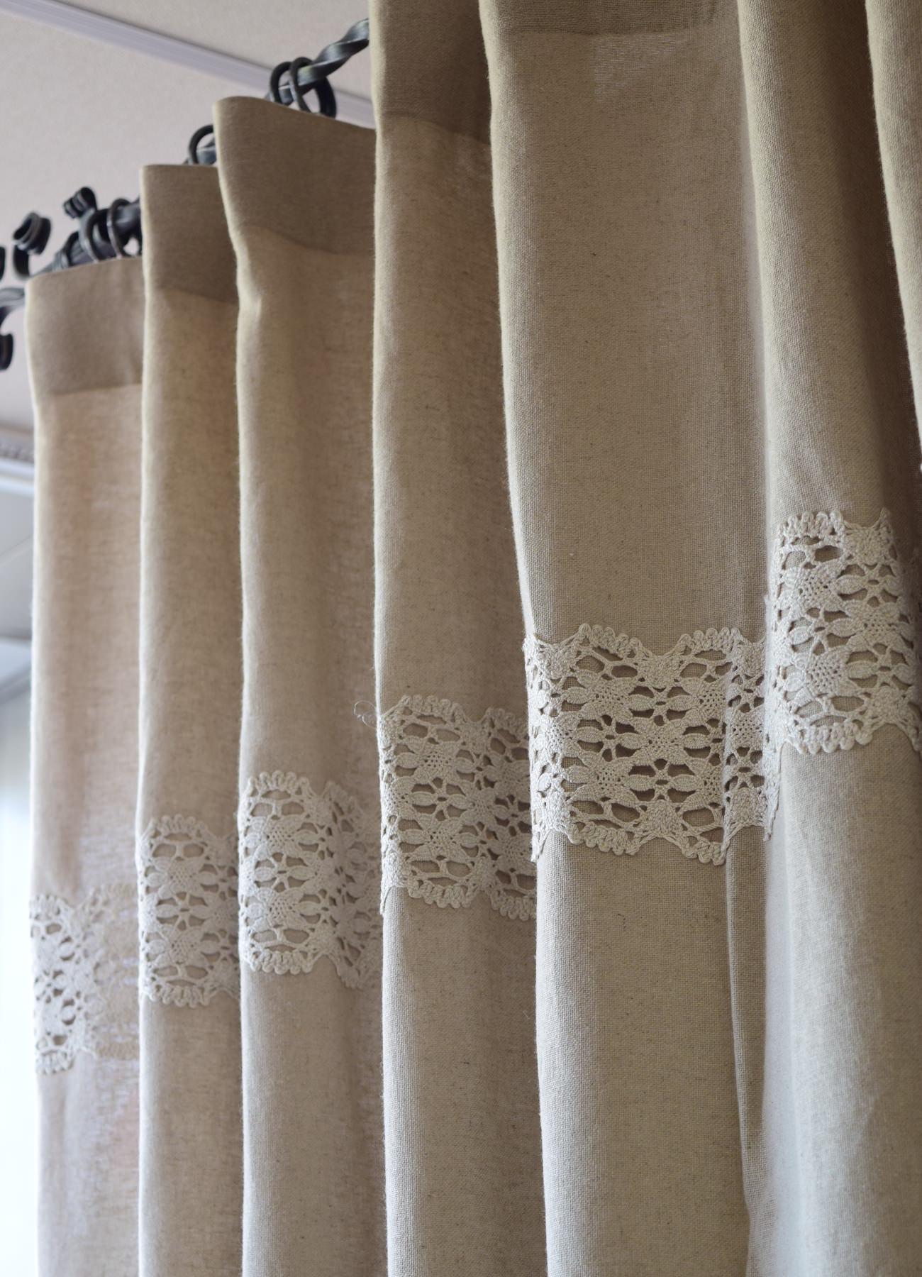 天然素材カーテン リノフレンチグレー⑨