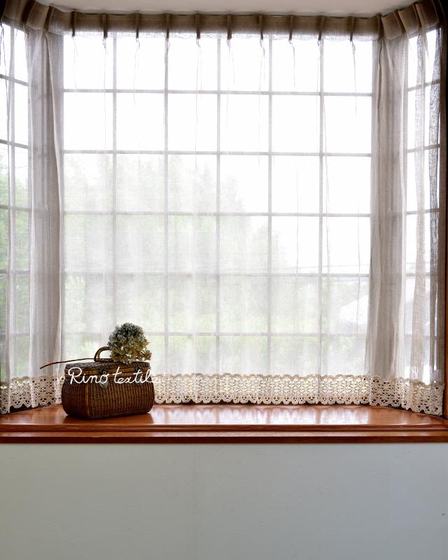 出窓カーテン リノパリスグレー