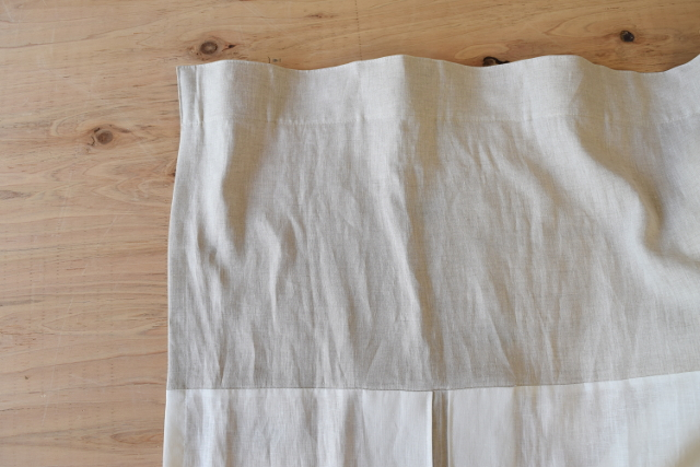 自然素材カーテン