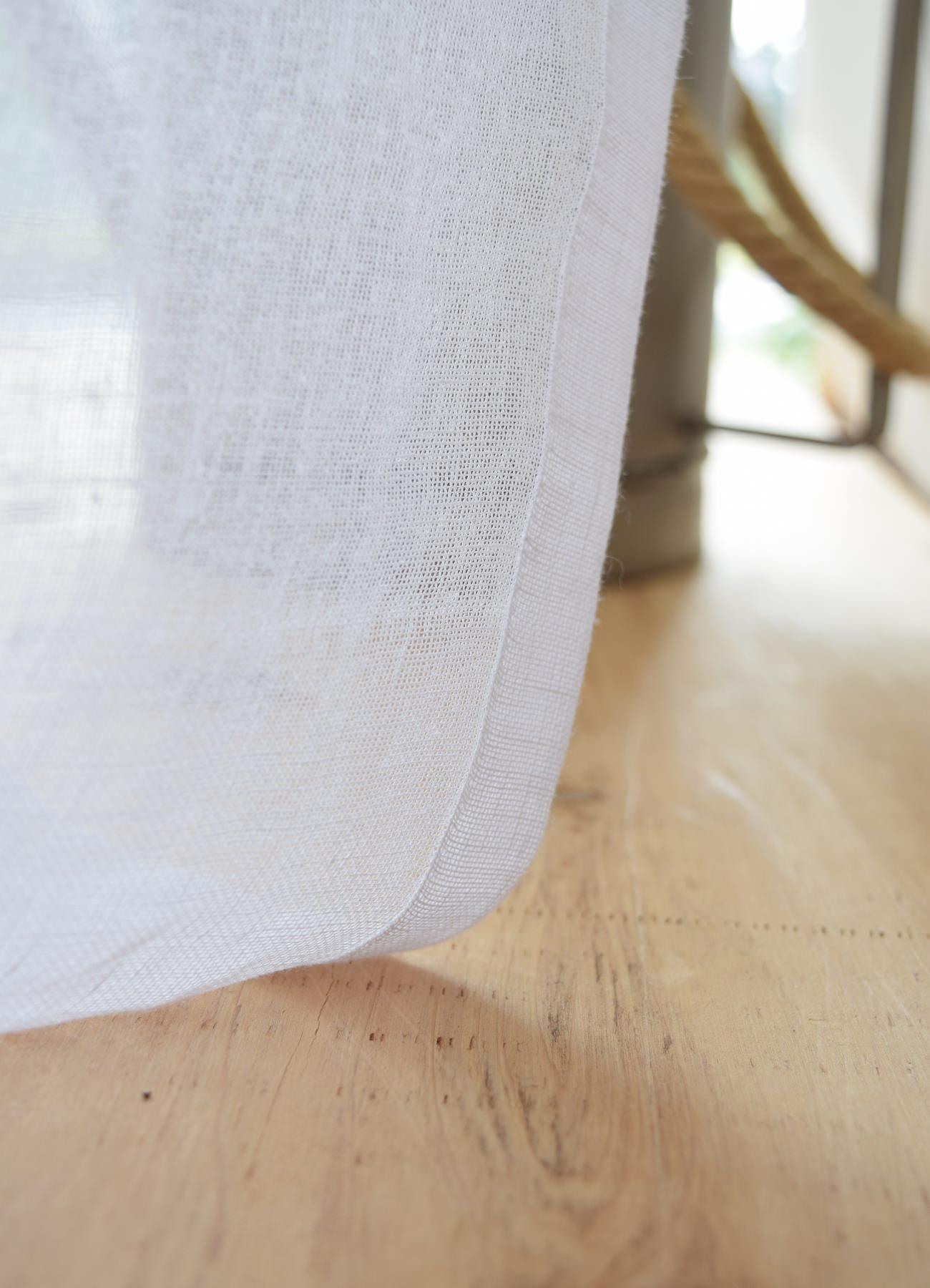 フレンチリネンカーテン スペイン産ホワイト