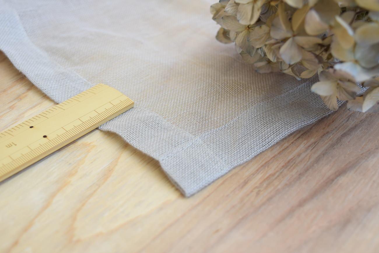 リネンレース裾