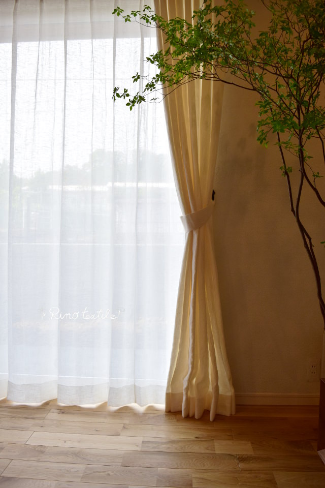天然住宅 新築カーテン